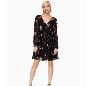 Kate Spade in bloom floral chiffon dress